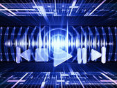 Vlny zvuku — Stock fotografie