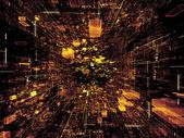 Virtual Space Composition — Stock Photo