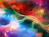 Fractal Paint Background — Stock Photo