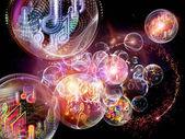 Esferas de la música — Foto de Stock