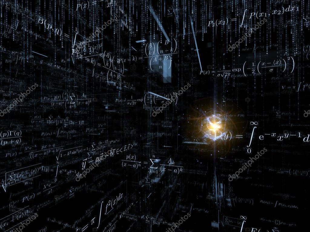 艺术抽象的数学公式和设计元素在观点上的商业图片
