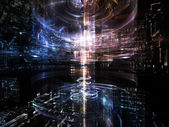 Advance of Fractal Metropolis — Stock Photo