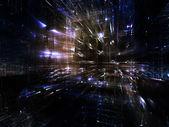 Vision of Fractal Metropolis — Stock Photo