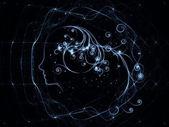 Conceptual Girl Swirls — Stock Photo
