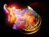 デザインの星雲の抽象化 — ストック写真