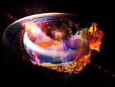 Design Nebulae Burst — Stock Photo