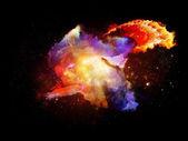 Pétalos de nebulosas de diseño — Foto de Stock