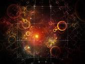 Elegancia de cuadrícula de partículas — Foto de Stock