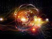 Stream of Digital Processing — Stock Photo
