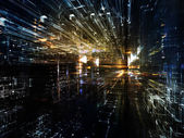 Lights of Fractal Metropolis — Stock Photo