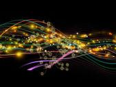 动态网络的进展 — 图库照片