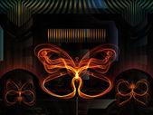 Virtuella fjäril — Stockfoto