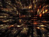 Förskott av fraktal världen — Stockfoto