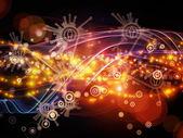 Metaphorical Dynamic Network — Stock Photo