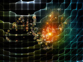 Metaphorical Particle Grid — Foto Stock