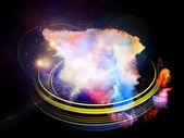 Design Nebulae Abstraction — Foto Stock