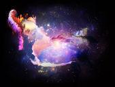 Colorful Design Nebulae — Stock Photo