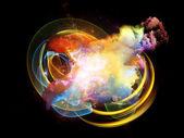 Conceptual Design Nebulae — Stock Photo