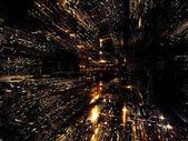 Lumières d'abstraction urbaine — Photo