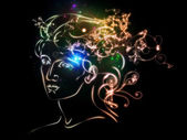 Glow of Inner Thoughts — Stock Photo
