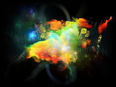 Tanec designu mlhovin — Stock fotografie