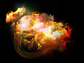 概念设计星云 — 图库照片