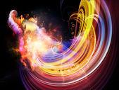 Fundo de nebulosas — Foto Stock