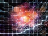 Avanço da grade de partícula — Fotografia Stock