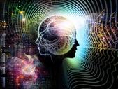Insan aklının yanılsamalar — Stok fotoğraf