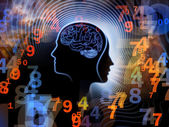 Numbers of Human Mind — Stock Photo