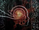 隐喻人类科技 — 图库照片