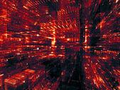 闪亮的分形维数 — 图库照片