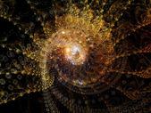 Unfolding of Spiral — Стоковое фото