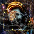 Computing Human Mind — Stockfoto