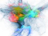 Virtuella fraktal burst — Stockfoto