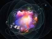Despliegue de la explosión de color — Foto de Stock