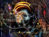 Computing Human Mind — Стоковое фото