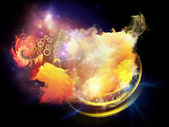 Design Nebulae Arrangement — Stock Photo