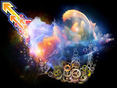Voyages bulutsu tasarla — Stok fotoğraf