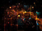 Glow of Particle Grid — Stock Photo