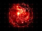 Lights of Girl Swirls — Stock Photo