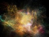Evolving Fractal Nebulae — Stock Photo