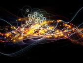 Szybsza dynamiczna sieci — Zdjęcie stockowe
