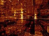 Lampor av fraktala dimensioner — Stockfoto
