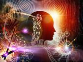 Virtuella mänskliga sinnet — Stockfoto