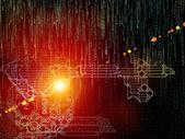 Visualization of Digital Key Code — Stock Photo