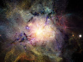 Shining Fractal Nebulae — Stock Photo
