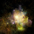 Stock Photo: Lights of Fractal Nebulae