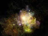 フラクタル星雲のライト — ストック写真