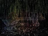 Virtualisering av nyckel koden — Stockfoto